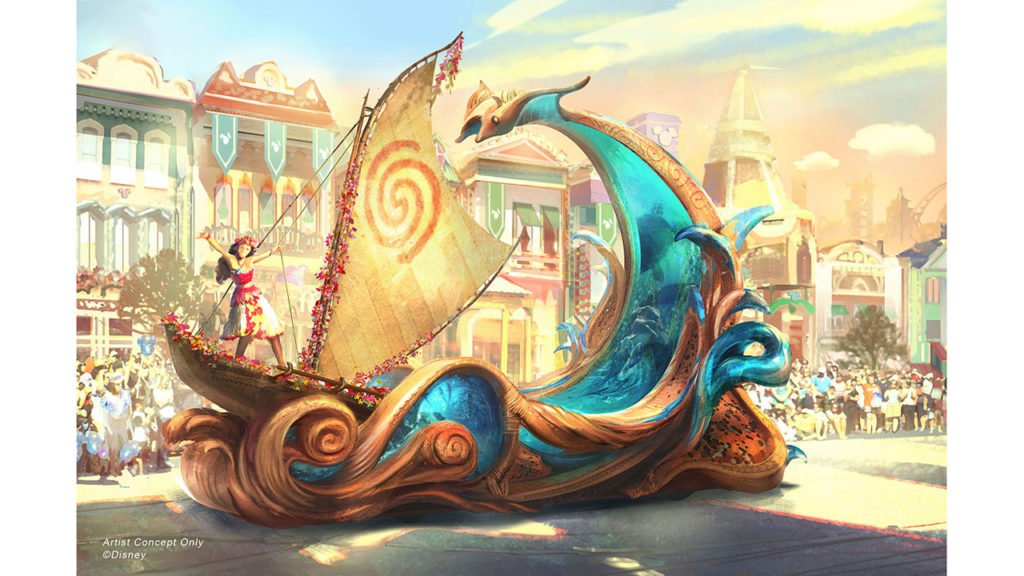 Magic Happens Moana float