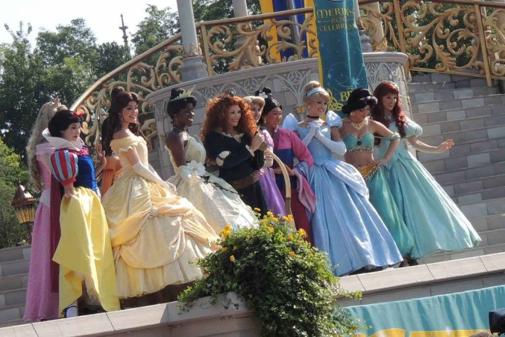Disney Princesses all lined up at Merida's coronation.