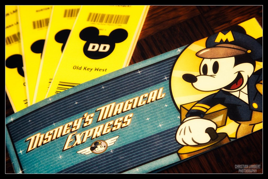 Photo of Disney Magical Express and old key west tickets by christian lamber photography.