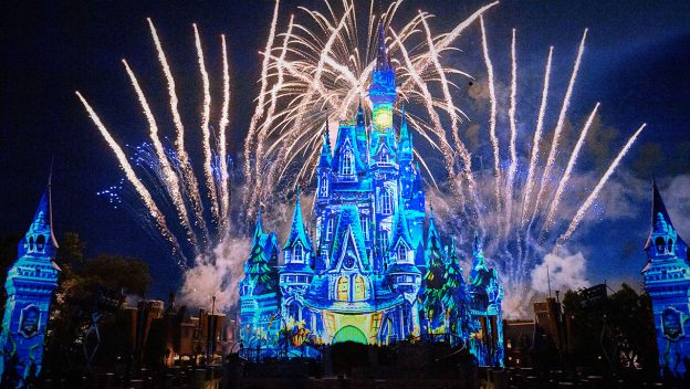 photo of not-so-spooky spectacular fireworks and projection at cinderella castle in the magic kingdom at walt disney world
